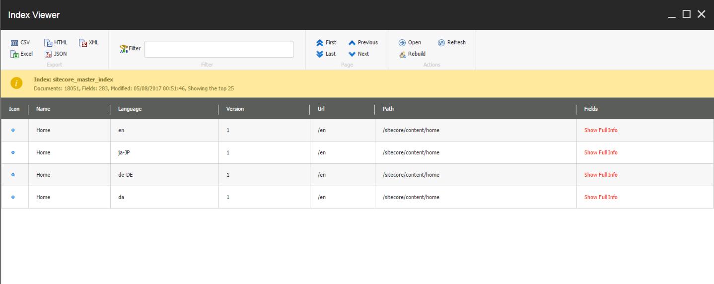 Sitecore PowerShell Index Viewer Grid